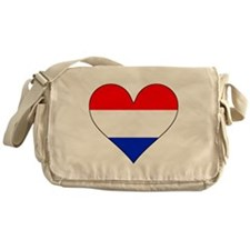 Netherlands Flag Heart Messenger Bag