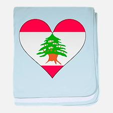 Lebanon Flag Heart baby blanket
