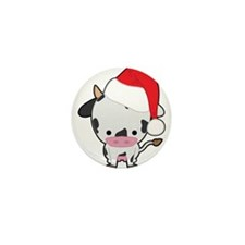 Holiday Cow Mini Button (100 pack)