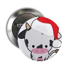 "Holiday Cow 2.25"" Button (10 pack)"