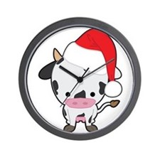 Holiday Cow Wall Clock