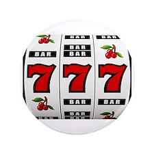 """Casino Slot Machine 3.5"""" Button"""