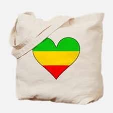 Ethiopia Flag Heart Tote Bag