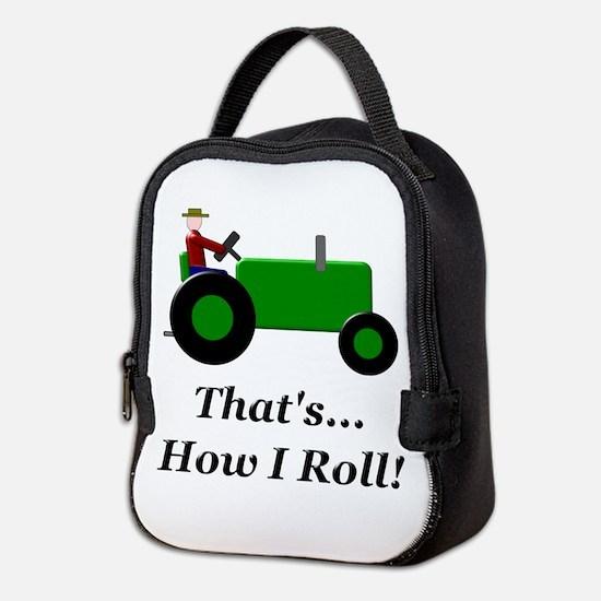 Green Tractor How I Roll Neoprene Lunch Bag