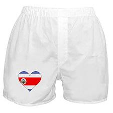 Costa Rica Flag Heart Boxer Shorts