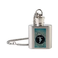 Snowboarder Flask Necklace