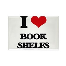 I Love Book Shelfs Magnets