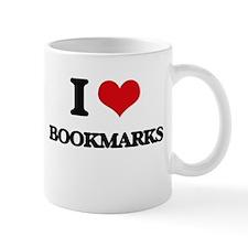 I Love Bookmarks Mugs