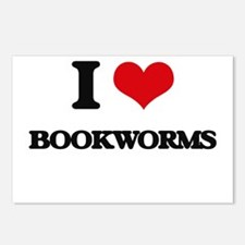 I Love Bookworms Postcards (Package of 8)