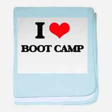 I Love Boot Camp baby blanket