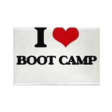 I Love Boot Camp Magnets