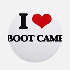 I Love Boot Camp Ornament (Round)