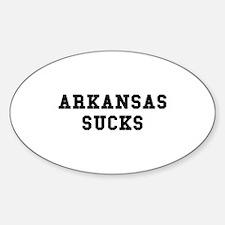 Arkansas Sucks Oval Decal