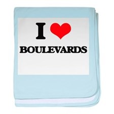 I Love Boulevards baby blanket