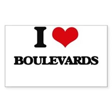 I Love Boulevards Decal