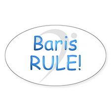 Baris RULE! Oval Sticker