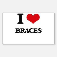 I Love Braces Decal