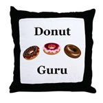 Donut Guru Throw Pillow