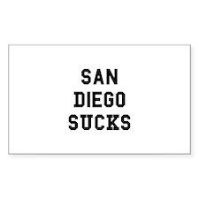 San Diego Sucks Rectangle Decal