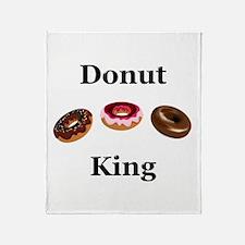 Donut King Throw Blanket