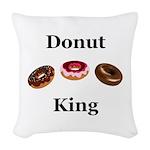 Donut King Woven Throw Pillow