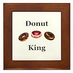 Donut King Framed Tile