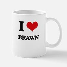 I Love Brawn Mugs