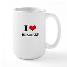 I Love Braziers Mugs