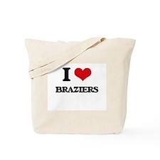 I Love Braziers Tote Bag