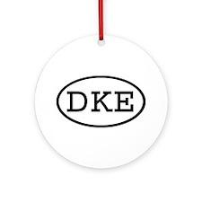 DKE Oval Ornament (Round)