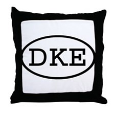 DKE Oval Throw Pillow