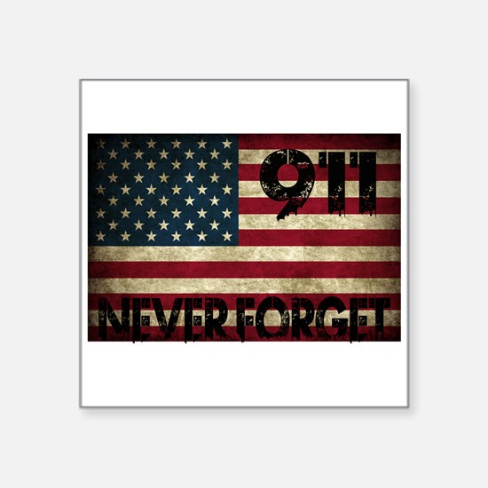 "Cute September 11th never forget Square Sticker 3"" x 3"""