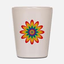 Rainbow Flower Shot Glass