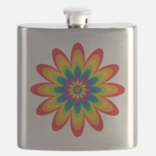 Rainbow Flower Flask