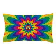 Rainbow Flower Pillow Case