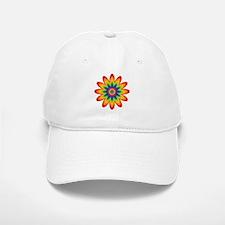 Rainbow Flower Baseball Baseball Cap