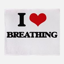 I Love Breathing Throw Blanket