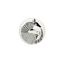 Possum on the Half Shell Mini Button