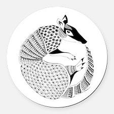 Possum on the Half Shell Round Car Magnet