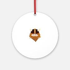 Viking Head Ornament (Round)