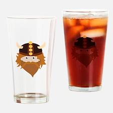 Viking Head Drinking Glass