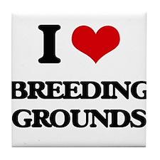 I Love Breeding Grounds Tile Coaster