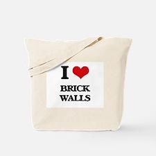 I Love Brick Walls Tote Bag