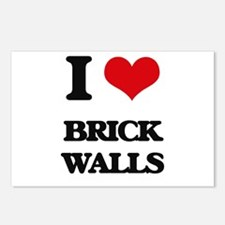 I Love Brick Walls Postcards (Package of 8)
