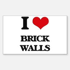 I Love Brick Walls Decal