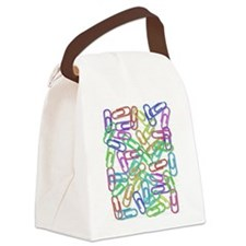 Paper Clips Canvas Lunch Bag