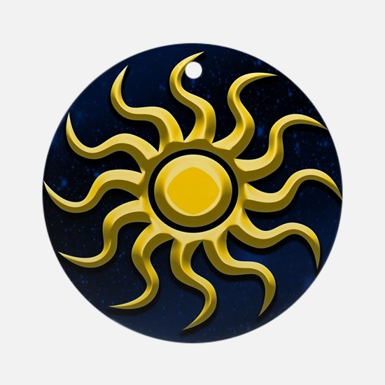 Sun In The Starry Sky Ornament (Round)