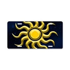 Sun In The Starry Sky Aluminum License Plate