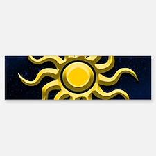 Sun In The Starry Sky Bumper Bumper Bumper Sticker