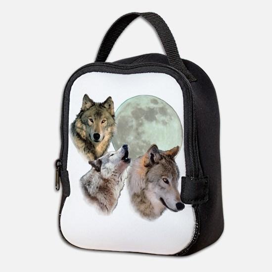 3 Wolf Moon Neoprene Lunch Bag